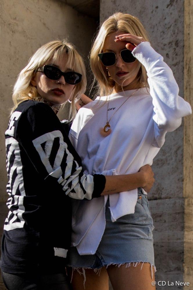 Caroline Vreeland and Shea Marie At Milan Fashion Week