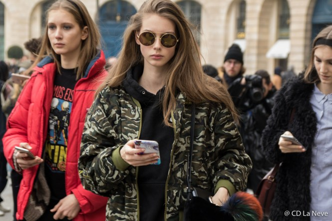 Models After Schiaparelli Haute Couture 2017 Street Style