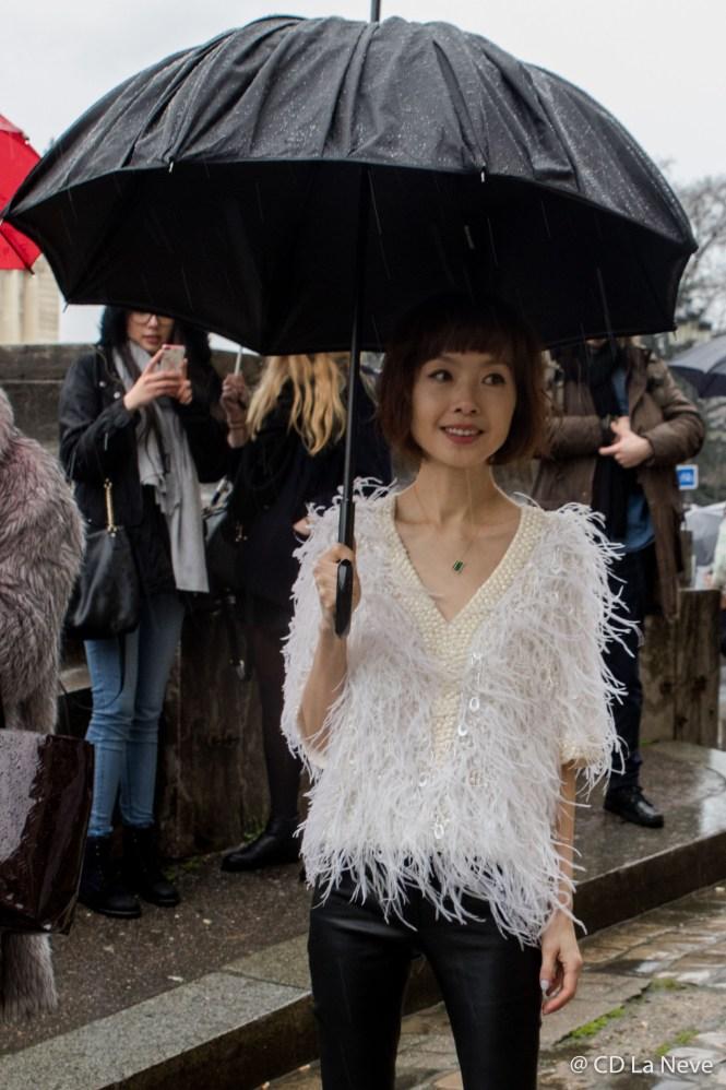 Street Style Elie Saab Paris Fashion Week FW17