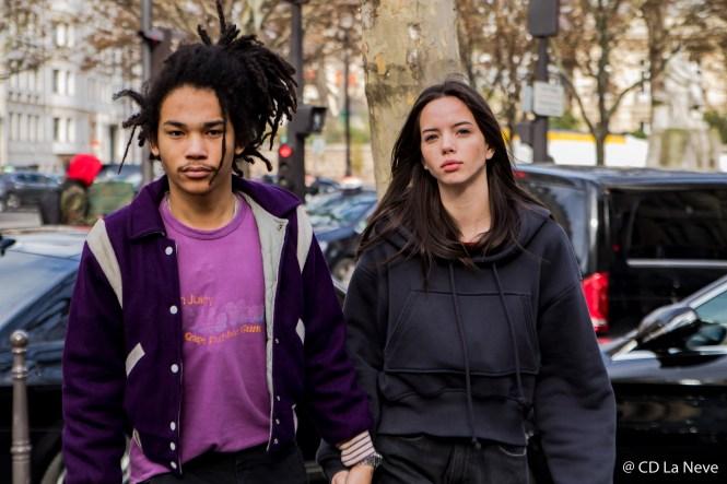 Luka Sabbat Adriana Mora Street Style Paris Fashion Week Balmain FW17