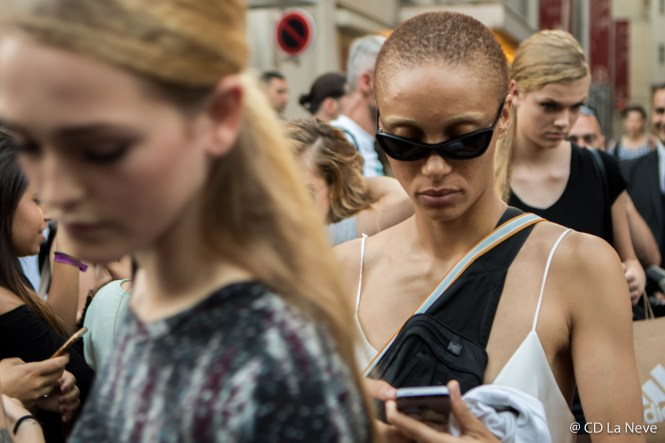 Adwoa Aboah Fendi Paris Fashion Week Haute Couture Street Style FW17