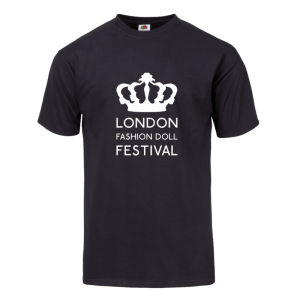 London Fashion Doll Festival Logo Black Tee