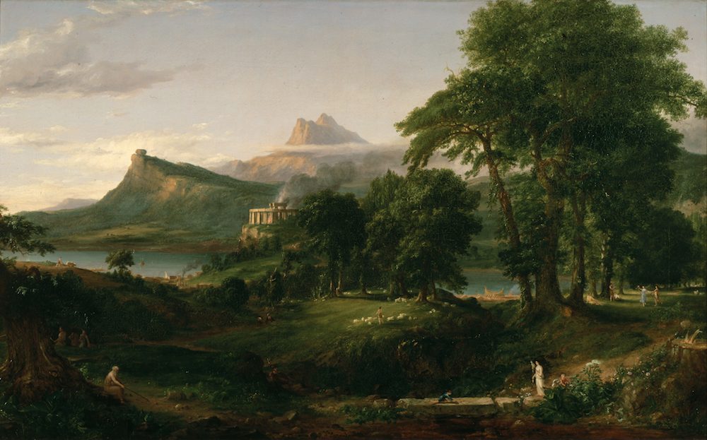 Thomas Cole, The Course of Empire, The Arcadia or Pastoral State, 1834