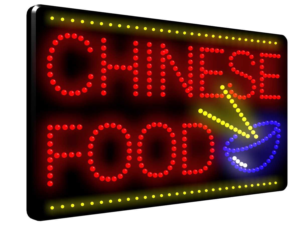 Chinese Food Amp Bowl Led Sign Ldx 30