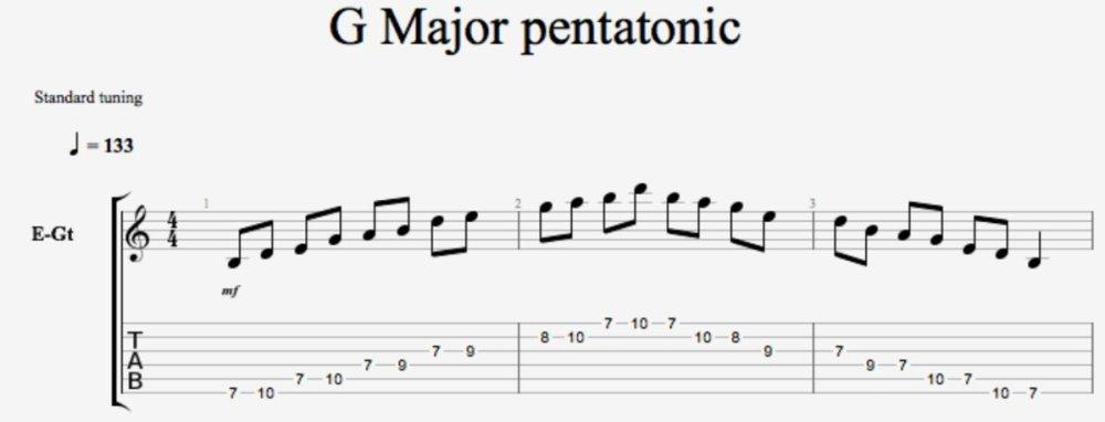 G major Pentatonic