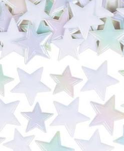 Iriidiscent White Star Sprinkles