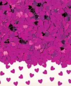 Sparkle Hearts Hot Pink Table Confetti