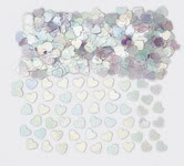 Sparkle Hearts Irridiscent Table Confetti