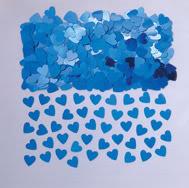 Sparkle hearts blue Table Confetti