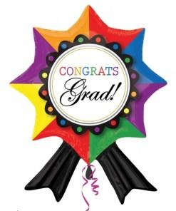 Congrats Grad Ribbon Supershape Helium Filled Foil Balloon
