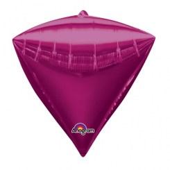 "3 Diamondz Bright Pink 17"" Helium Filled Foil Balloons"