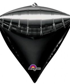 "3 Diamondz Black 17"" Helium Filled Foil Balloons"