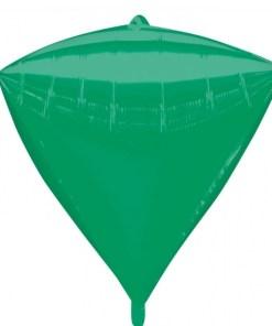 "3 Diamondz Green 17"" Helium Filled Foil Balloons"