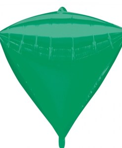 "3 Diamondz Green 17"" Helium Filled Foil Balloons"