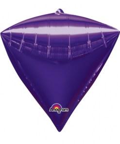 "3 Diamondz Purple 17"" Helium Filled Foil Balloons"