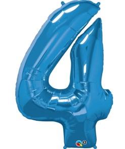 Blue foil 4 balloon.