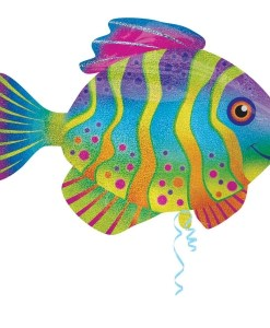 Colourful Fish Supershape Helium Filled Foil Balloon