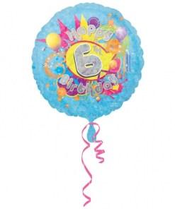 "Cool Kidz 6th Birthday 18"" Helium Filled Foil Balloon"