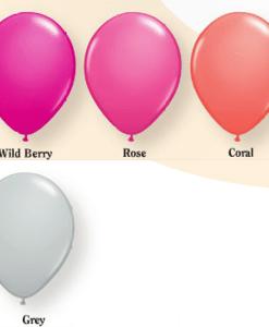 fashion helium balloon colours