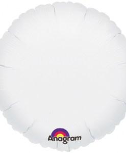 helium filled white foil balloon