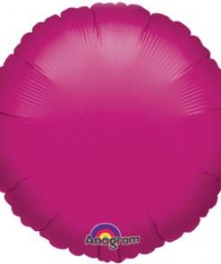 helium filled fuchsia circle foil balloon
