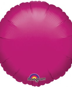 helium filled fuchsia circle foil balloon