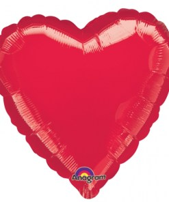 Metallic Red heart Helium Filled Foil Balloon