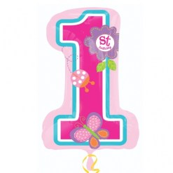 helium filled sweet birthday girl supershape Foil Balloon