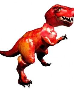Tyrannosaurus Rex Helium Filled Airwalker Foil Balloon.