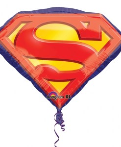 superman emblem Helium Filled Foil Balloon