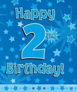 Oaktree Blue 2nd Birthday Napkins (16)