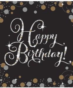 Gold Celebration Happy Birthday Napkins (16)