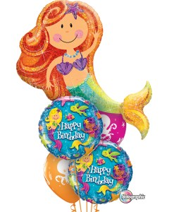 Birthday Mermaid Bouquet at London Helium Balloons