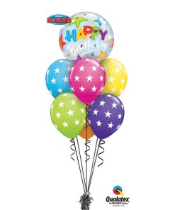 Birthday Stars Bouquet at London Helium Balloons