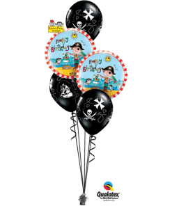 Pirate Classic Birthday Bouquet at London Helium Balloons