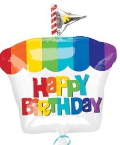 Happy Birthday Cupcake at London Helium Balloons