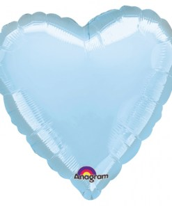 Personalised photo printed Light Blue  Foil Heart Balloon