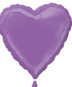 Personalised photo printed Lilac Foil Heart Balloon