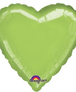 Personalised photo printed Lime Green Foil Heart Balloon