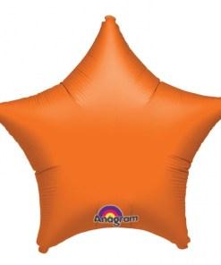 Personalised photo printed Orange Foil Star Balloon