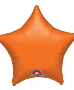 Personalised photo printed Orange Foil Star Balloon