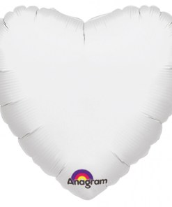 Personalised photo printed White Foil Heart Balloon