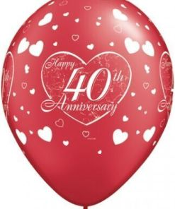 """10 4oth Anniversary Helium Filled 11""""latex Party Party Balloons"""
