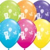 """10 Treated Cute & Cuddly Pets Helium filled 11"""" Latex Party Balloons"""