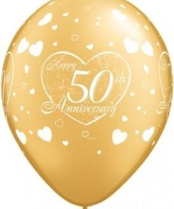 """10 5oth Anniversary Helium Filled 11""""latex Party Party Balloons"""