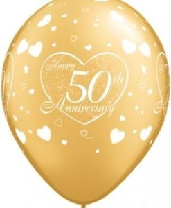 "10 5oth Anniversary Helium Filled 11""latex Party Party Balloons"