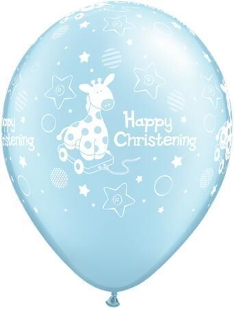 """10 Christening Giraffe Blue Helium Filled 11""""latex Party Party Balloons"""
