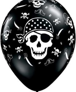 """10 Pirate Skull & Crossbones Helium Filled 11""""latex Party Party Balloons"""