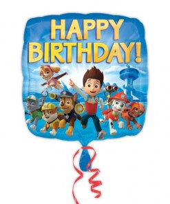 paw patrol happy birthday Helium Filled Foil Balloon