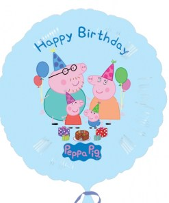 peppa pig happy birthday Helium Filled Foil Balloon